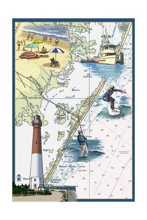 Long Beach Island, New Jersey - Nautical Chart