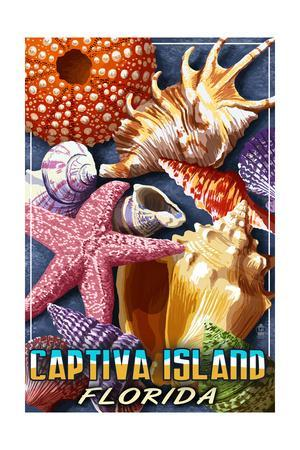 Captiva Island, Florida - Shell Montage