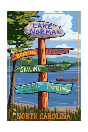 Lake Norman, North Carolina - Destination Sign