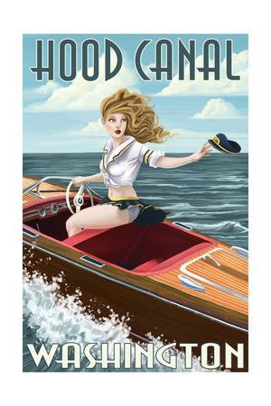 Hood Canal, Washington - Pinup Girl Boating