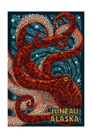 Juneau, Alaska - Octopus Mosaic