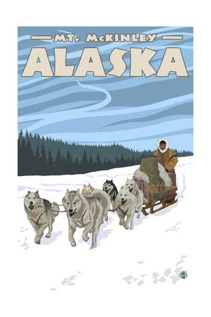 Mt. McKinley, Alaska - Dogsled