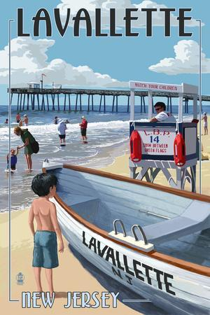 Lavallette, New Jersey - Lifeguard Stand