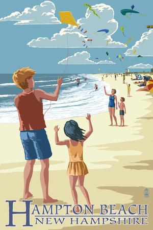 Hampton Beach, New Hampshire - Kite Flyers
