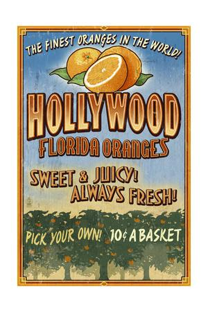Hollywood, Florida - Orange Grove Vintage Sign