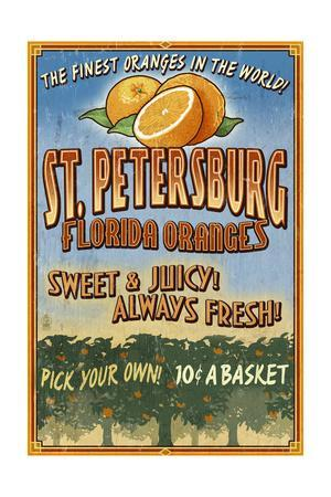 St. Petersburg, Florida - Orange Grove Vintage Sign