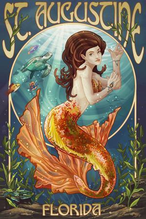 St. Augustine, Florida - Mermaid