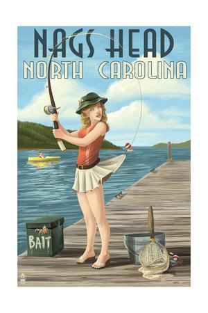 Nags Head, North Carolina - Fishing Pinup