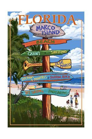 Marco Island, Florida - Destination Sign 2