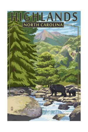 Highlands, North Carolina - Bear Family and Creek