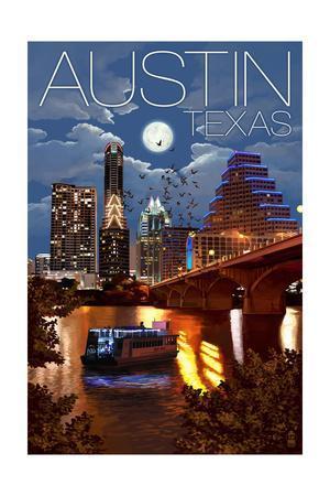 Austin, Texas - Skyline at Night