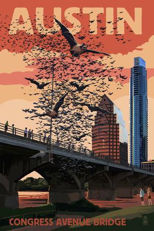 Austin, Texas - Bats and Congress Avenue Bridge