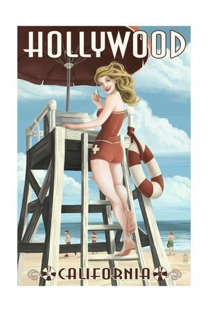 Hollywood, California - Lifeguard Pinup