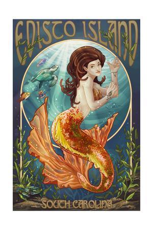 Edisto Island, South Carolina - Mermaid