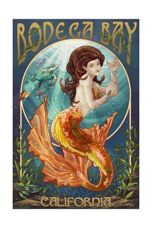 Bodega Bay, California - Mermaid