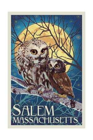 Salem, Massachusetts - Owl and Owlet