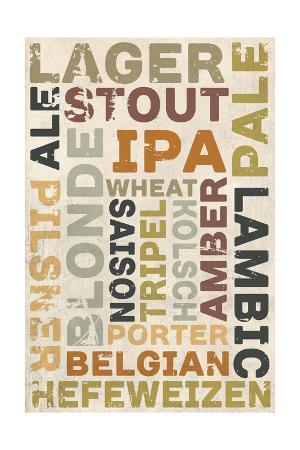 Beer Typography - Types of Beer