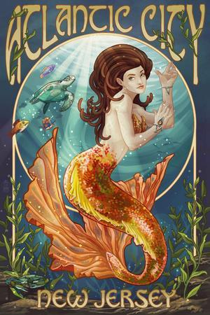 Atlantic City, New Jersey - Mermaid