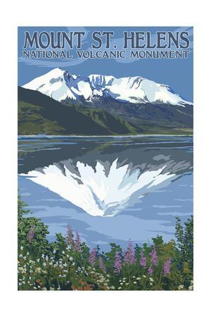 Mount St. Helens, Washington - before and after Views