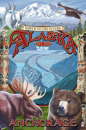 Anchorage, Alaska - North to the Future Montage