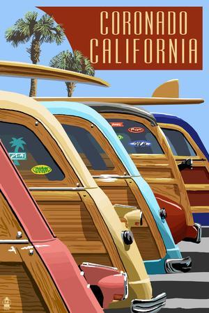 Coronado, California - Woodies Lined Up