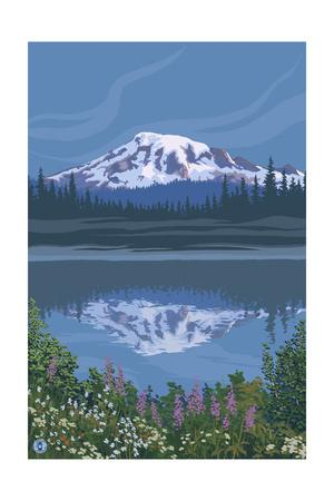 Mount Rainier - Reflection Lake - Image Only