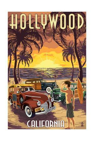 Hollywood, California - Woodies on the Beach