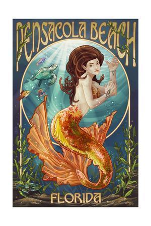 Pensacola, Florida - Mermaid