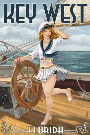 Key West, Florida - Sailor Pinup