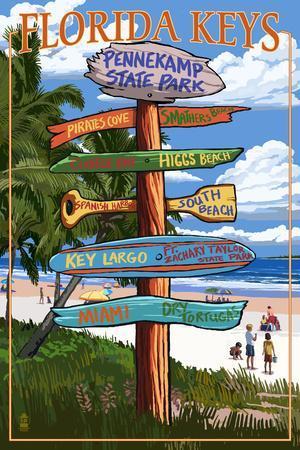 Pennekamp State Park, Florida - Destination Signs