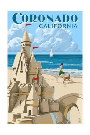 Coronado, California - Sandcastle