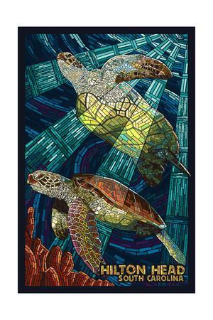 Hilton Head, South Carolina - Mosaic Sea Turtles