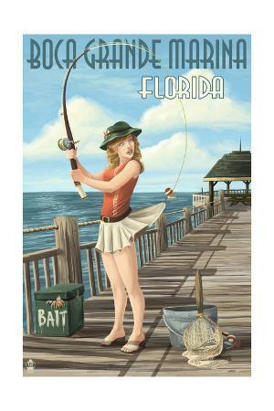 Boca Grande Marina, Florida - Pinup Girl Fishing