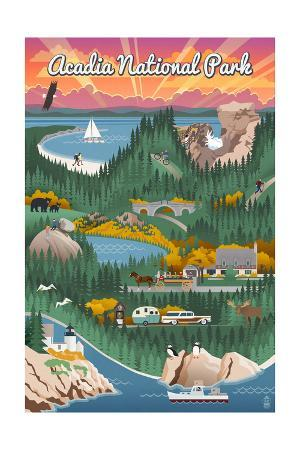 Acadia National Park - Retro View