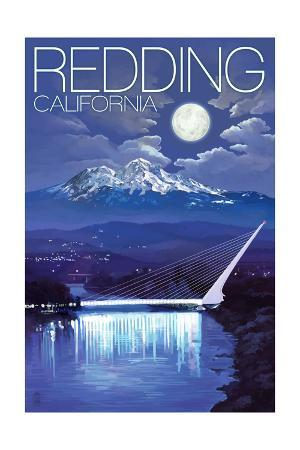 Redding, California - Sundial Bridge at Night