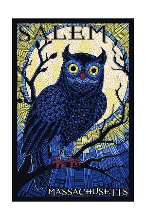 Salem, Massachusetts - Owl Mosaic