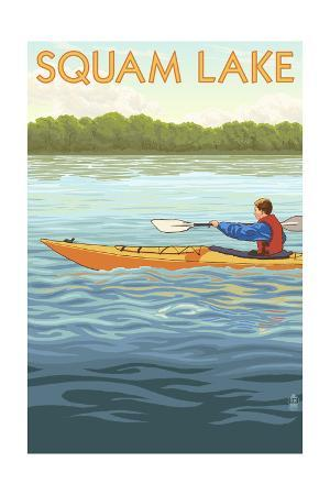 Squam Lake, New Hampshire - Kayak Scene