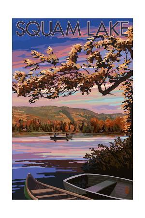 Squam Lake, New Hampshire - Lake at Dusk