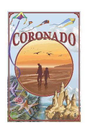 Coronado, California - Beach Montage