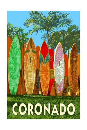 Coronado, California - Surfboard Fence