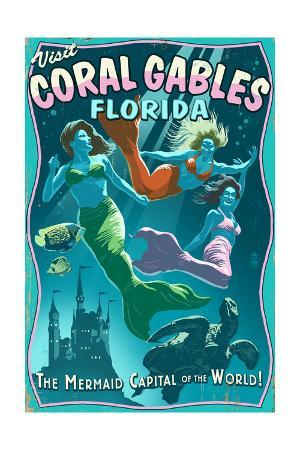 Coral Gables, Florida - Live Mermaids