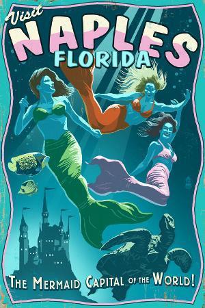 Naples, Florida - Live Mermaids