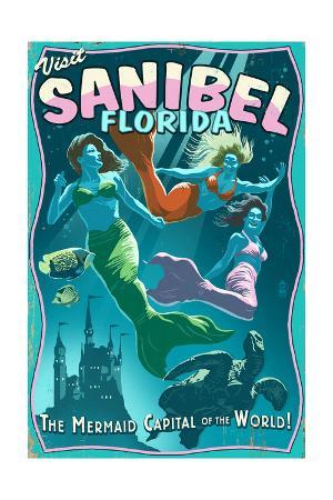 Sanibel, Florida - Live Mermaids