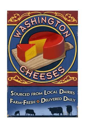 Washington - Cheese Vintage Sign