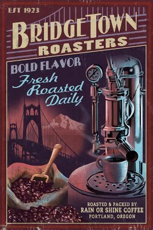 Coffee Roasters Vintage Sign - Portland, Oregon
