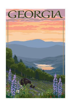 Georgia - Bears and Spring Flowers