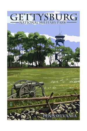 Gettysburg, Pennsylvania - Battlefield Tower