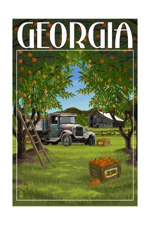 Atlanta, Georgia - Peach Orchard