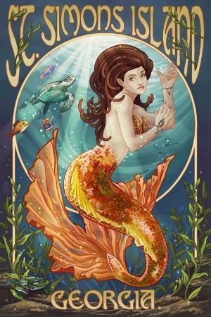 St. Simons Island, Georgia - Mermaid