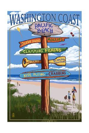 Pacific Beach, Washington - Sign Destinations